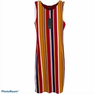 ESCADA | Striped Long Sleeveless Maxi Dress NWT